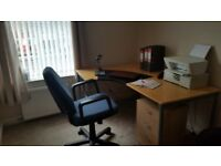 Well fitted office for one in a private house in Bishy Road area