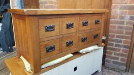 Rustic solid oak storage chest