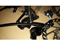 Clarke's exo hydraulic brake set front and rear. both rotas are 160mm