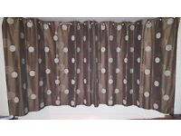John Lewis lined chocolate brown curtains 239cm by 180cm