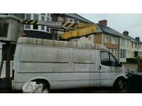 Cherry picker transit van