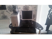 Dell Desktop Pc with LCD Monitor, Keyboard, Mouse and Speakers.