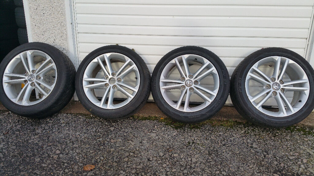 Vauxhall Insignia GENUINE 18 '' alloy wheels + 4 x tyres 245 45 18