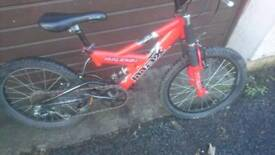 RALEIGH MAX BOYS MOUNTAIN BIKE, 12 INCH FRAME, 20 INCH WHEELS, 6 GEARS, GOOD CONDITION