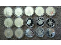 15 Queen mother commemorative 925 silver proof coins