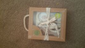 baby mamas n papas mirror can be tied/ cloth book with crinkle noise/ sophie teether- Feltham