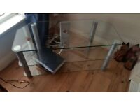 GLASS TV UNIT immaculate condition