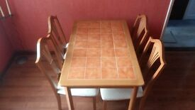 for sale 4 chairs and table - wooden