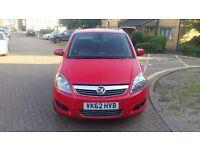 Vauxhall Zafira 1.6I Design 5dr 2012 Reg 62 1 Year MoT £3999