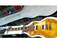 2007 USA LES PAUL STD. FADED SERIES. AAA grade HONEYBURST- Bare Knucle Pickups. Original Hard Case.