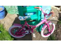 Raleigh molly 16'' girls bike