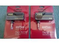 Vox Amplugs X 2 Classic Rock & Vox AC30.