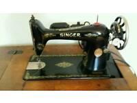 Singer electric sewing machine.