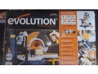 Brand New still sealed in box Evolution Rage 3S 210mm TCT Multipurpose Sliding Mitre Saw 240V