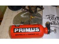 Primus Omni multi fuel stove and fuel bottle for sale