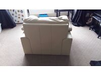 Cream Leather Armchair good condition pick-up only