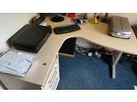 Office corner desk with drawers