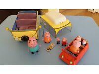 peppa pig camper van and car set