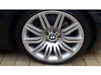 """Bmw alloy wheels spiders 19"""" genuine with brand new ty"""
