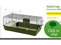 large rat/dwarf rabbit cage, clean, come with water bottle and few accessories, the colour is blue