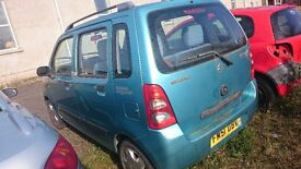 2002 SUZUKI WAGAN R, 1.3 PETROL, BREAKING FOR PARTS ONLY, POSTAGE AVAILABLE NATIONWIDE