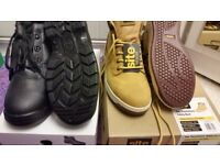 Brand new men,s site work steel toe boots size Uk 7 n 8 for 30 each, 4 pairs for 100