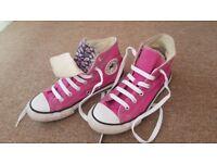 Pink High Top Converse -uk size 2-