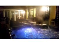 SleepingTree Lodge. Private Outdoor Hot Tub. Sleeping from 2-8. Woodland Setting, in South Wales.