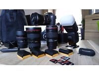 """Canon 6D + """"L"""" series Canon Lenses and accessories. Professional Photography Equipment"""