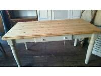 'Ducal' pine Shabby Chic Table painted