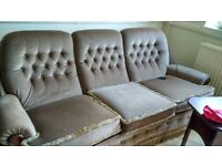5 seater beautiful sofa and G-plan table and 6 chairs