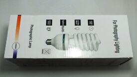 Set of two 135W / 5500k photography light bulbs