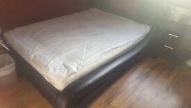 Modern Italian Leather Bed + Orthopedic Mattress