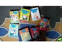 Family Guy season 1-7 box sets.