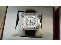 Men's Diamond cartier watch chronograph