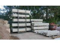 Concrete fence posts gravel boards