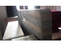Double Divan Base and Matress with headboard