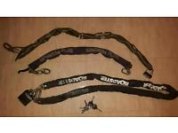 Heavy duty motorbike motocross security chains and locks