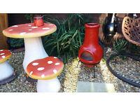 red garden chimnia wood burner