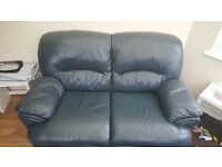 BLUE 2 SEATER SETTEE
