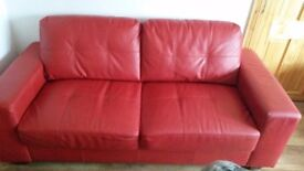Lovely red 3 piece suite