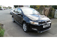 VOLKSWAGON POLO 1.2 MATCH 2012 PETROL BLACK-DAMAGED REPAIRABLE SALVAGE