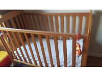 Mothercare Darlington cot and matress