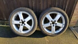 Ford wheels x2 with almost new tyres