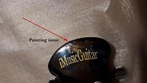 Factory Error-Painting issue Round Back Acoustic Guitar 41 inch Full Size Black iMusic632-1