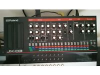 Roland JX03 synth module. Immaculate and including power supply.