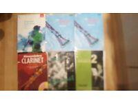 6 clarinet music tuition boks sheet music ABRSM