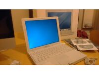 I am selling ibookg4 apple laptop,wireless, in original box with installation Cds,