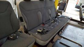 VAUXHALL VIVARO MINIBUS SEATS + COMPLETE REAR INTERIOR