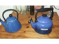 two le creuset kettles